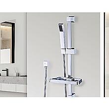 Hand Held Shower Rail Soap Dish Bathroom Set