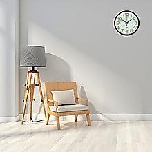 305mm Luminous Wall Clock Glow In The Dark Silent Quartz Indoor Home Modern Clock