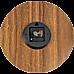 Glow In Dark Wall Clock Luminous Quartz Wooden Non Ticking Home Decor 12''/30cm