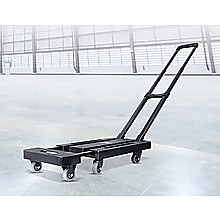 Foldable Hand Flatbed Trolley Cart 6 x 360 Degree Rotating Wheels with Maximum Load 200Kg