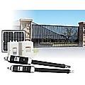 1200KG 10W Solar Double Swing Auto Motor Remote Gate Opener