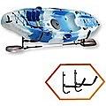 Kayak Canoe Wall-Mounted Rack Storage Brackets Swivel Sports Design