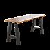 2x Rustic Dining Table Legs Steel Industrial Vintage 71cm - Black
