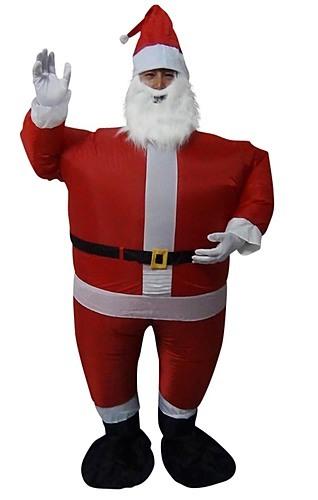 Santa fancy dress fan operated inflatable suit