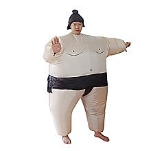 SUMO Fancy Dress Inflatable Suit -Fan Operated Costume