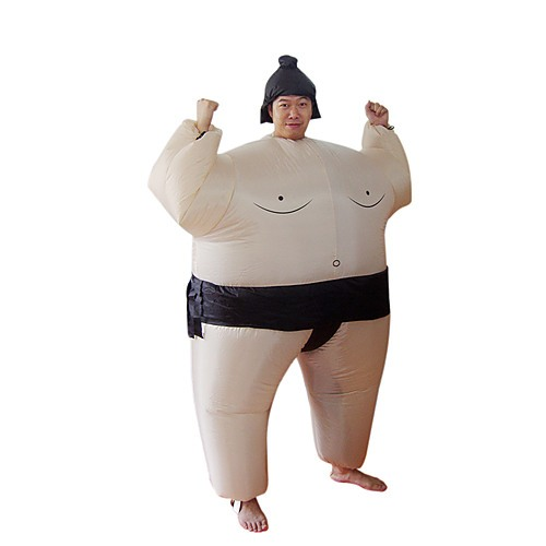 Sumo Inflatable Fan Operated Fancy Dress Suit