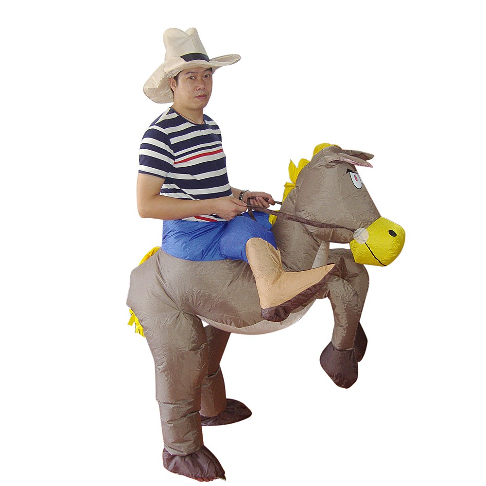 Cowboy Fancy Dress Inflatable Suit Fan Operated Costume Games Amp Hobbies Gt Costumes