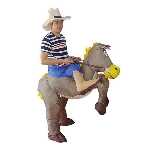 Cowboy Fancy Dress Fan Operated Inflatable Suit