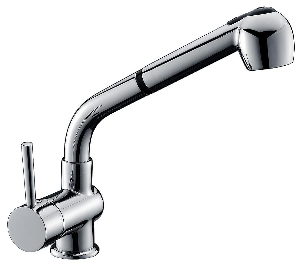 4 Hole Kitchen Sink Faucet Kitchen Basin Mixer Tap Faucet W Extendable Spray Laundry