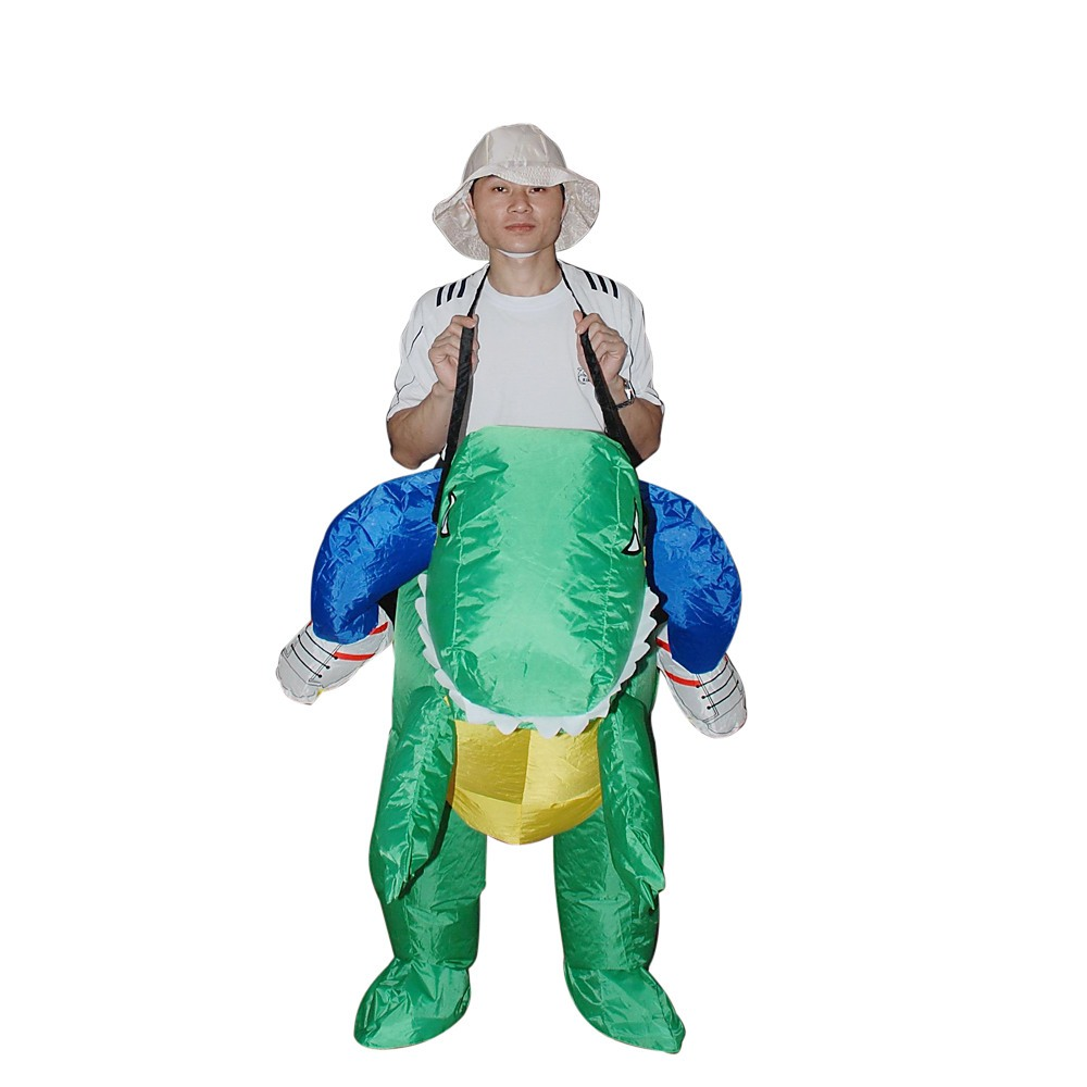 Dino Fancy Dress Inflatable Suit Fan Operated Costume