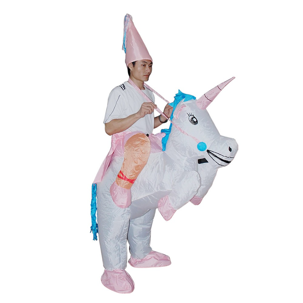 Unicorn Fancy Dress Inflatable Suit Fan Operated Costume