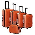 5pc Suitcase Trolley Travel Bag Luggage Set ORANGE