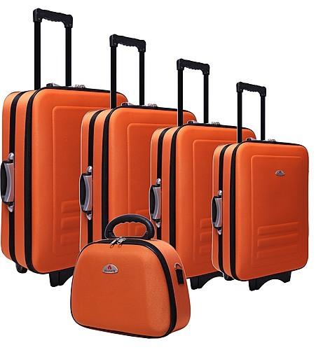 5pc Suitcase Trolley Travel Bag Luggage Set ORANGE - Travel Goods