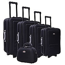 5pc Suitcase Trolley Travel Bag Luggage Set Black