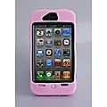 Pink Heavy Duty Case Cover For Apple iPhone 4 4G