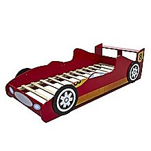 Red Race Racing Car Kids Bed