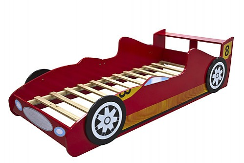 Red race racing car kids bed furniture