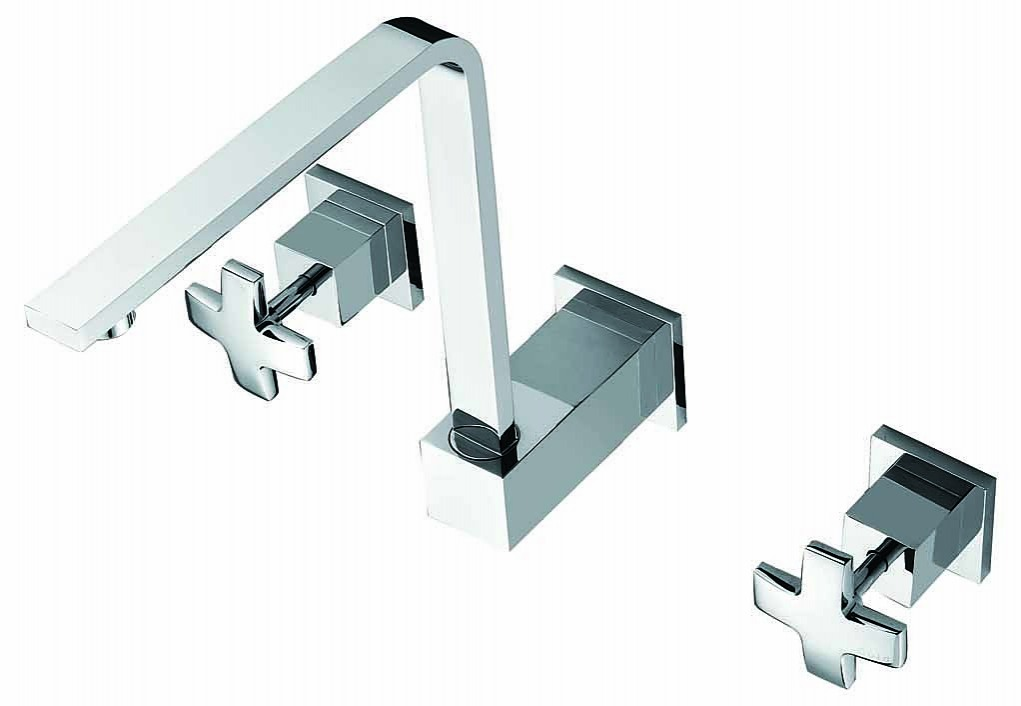 3pc Basin Tap Faucet Set Bathroom Laundry Sink Diy