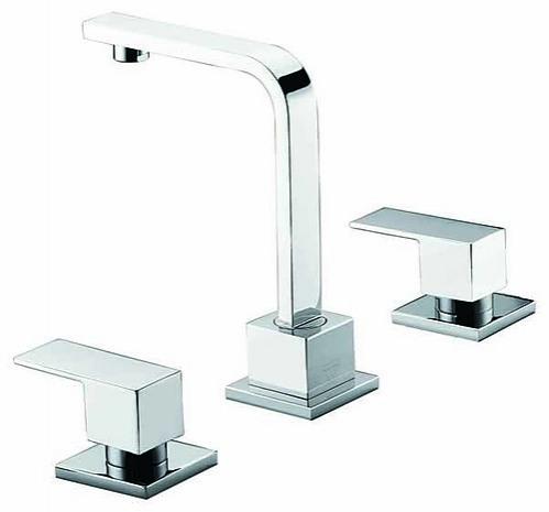 3pc Basin Tap Faucet Set - Bathroom Laundry Sink - Home & Lifestyle