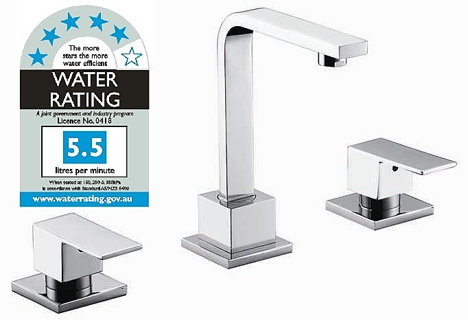 3pc Basin Tap Faucet Set Bathroom Laundry Sink Diy