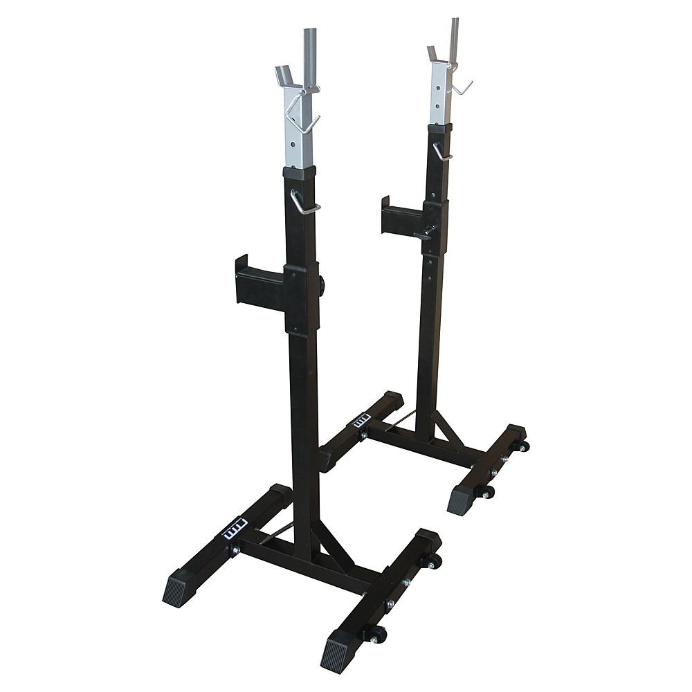 Squat Rack Stand Pair Bench Press Weight Lifting Barbell Sports Fitness Benches Racks