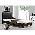 Single Bed Frame Black PU Leather