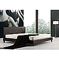 King Bed Frame Brown PU Leather