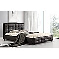 Double Black PU Leather Deluxe Bed Frame