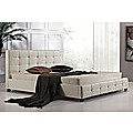 King White PU Leather Deluxe Bed Frame