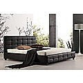 King Black PU Leather Deluxe Bed Frame