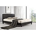 Queen Bed Frame Black PU Leather