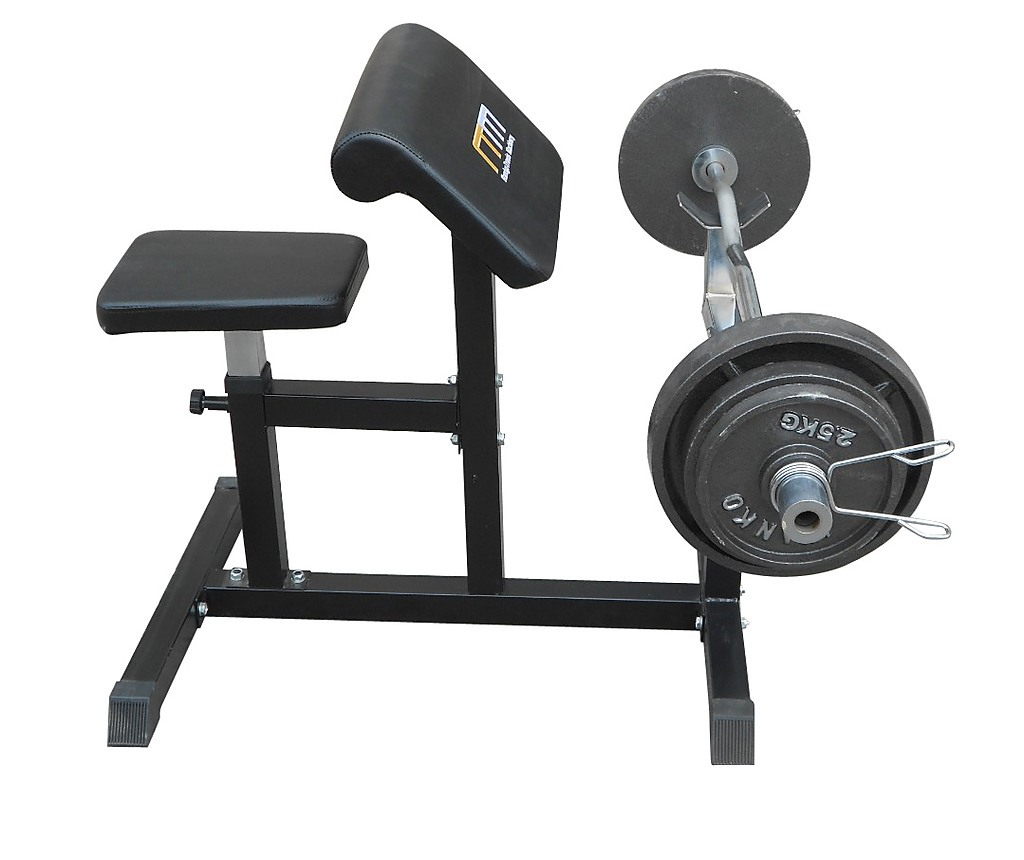 Dumbbell Exercises Without A Bench: Preacher Curl Bench Weights Commercial Bicep Arms Workout