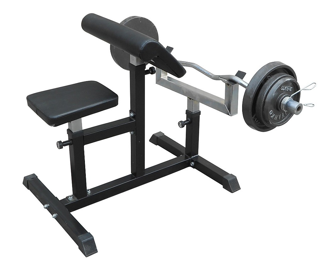 Preacher Curl Bench Weights Commercial Bicep Arms Workout