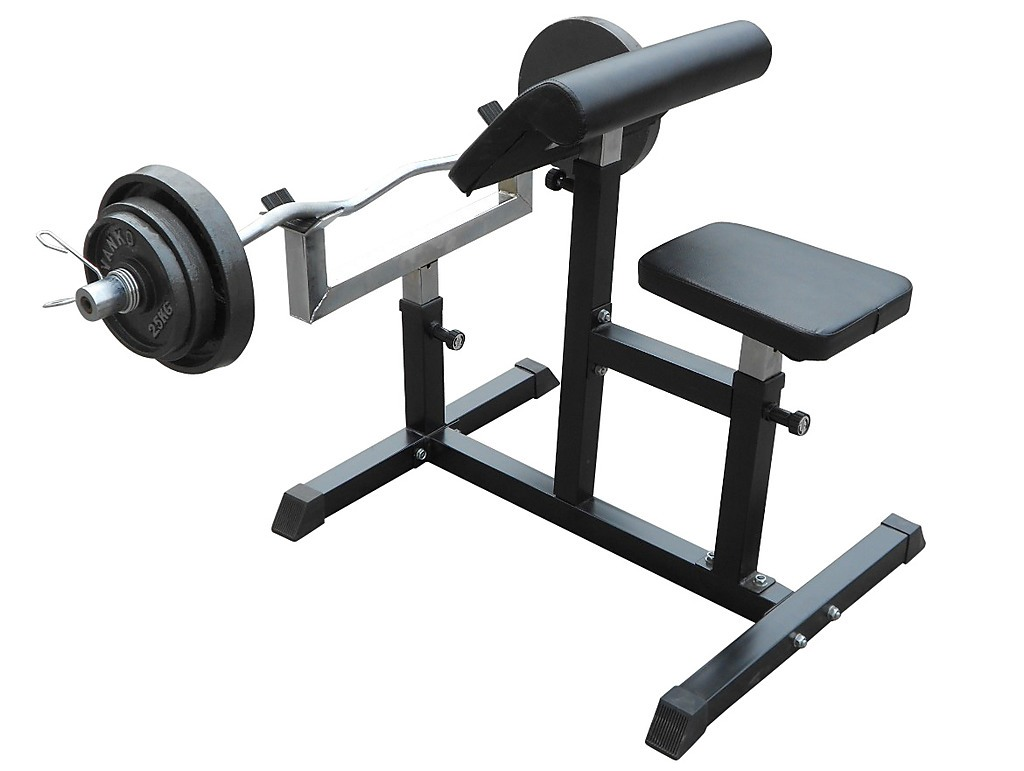 Preacher Curl Bench Weights Commercial Bicep Arms Sports Fitness Benches Racks