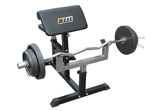 Preacher Curl Bench Weights Commercial Bicep Arms Sports Fitness