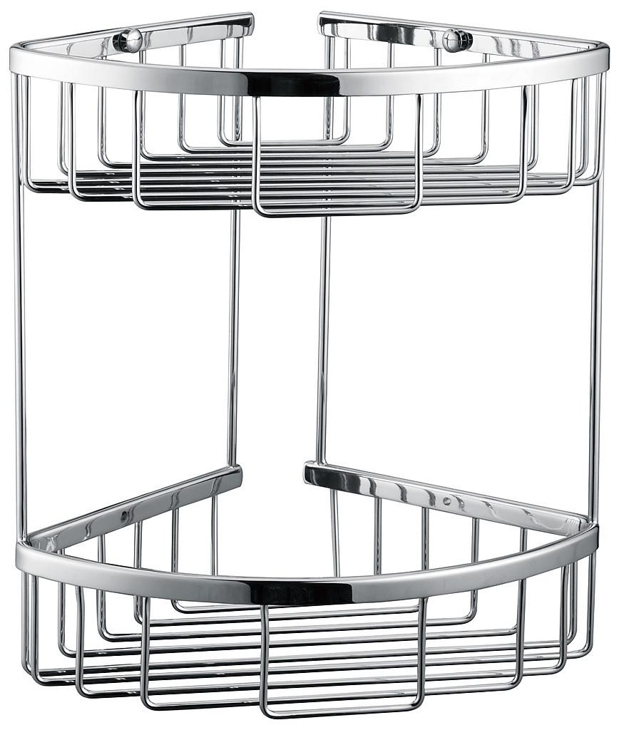 2 Tier Corner Bathroom Basket Shelf Rail Rack Diy