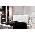 Double White PU Leather Bed Headboard Bedhead