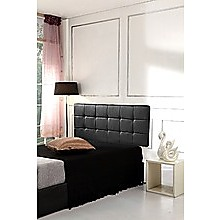 Queen PU Leather Bed Deluxe Headboard Bedhead - Black