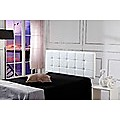 Queen PU Leather Bed Deluxe Headboard Bedhead - White