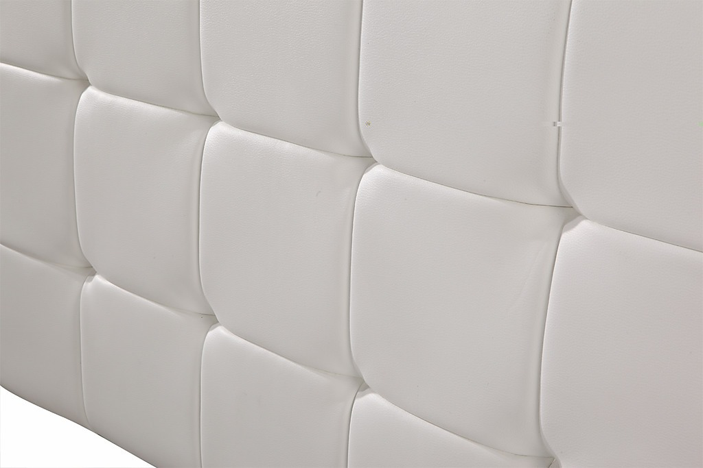 Pu Leather Queen Deluxe Headboard White