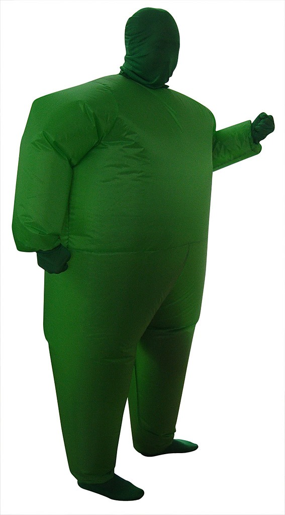Inflatable Plain Green Fancy Dress Costume