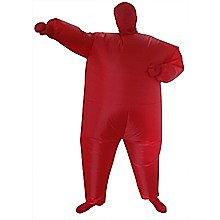 Red Alert Inflatable Costume Fancy Dress Suit Fan Operated