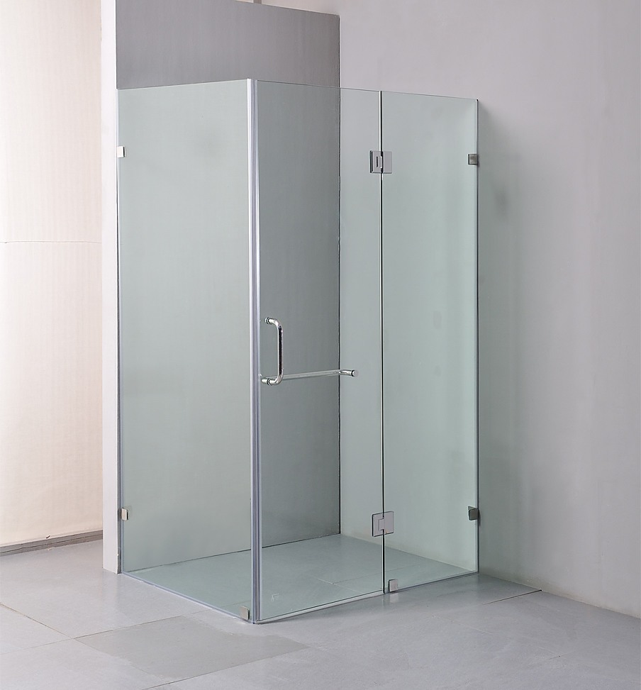 Della Francesca Frameless Square Shower Screen