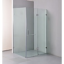 120 x 90cm Frameless 10mm Glass Shower Screen By Della Francesca