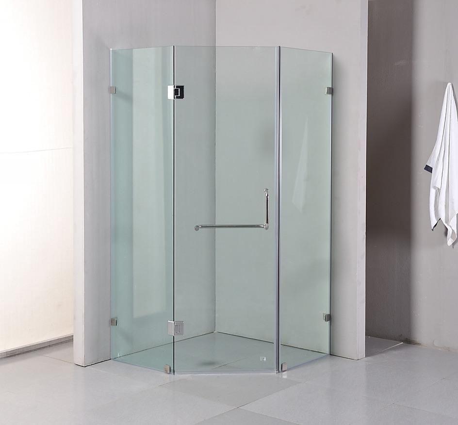 Della Francesca Frameless Shower Screen 1000 X 1000mm