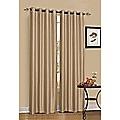 2 x Latte/Light Brown 100% Blockout Eyelet Curtains 240cm x 230cm (Drop)