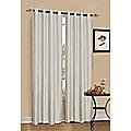2 x White / Cream 100% Blockout Eyelet Curtains 240cm x 230cm (Drop)