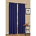 2 x Blue 100% Blockout Eyelet Curtains 140cm x 230cm (Drop)