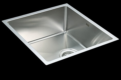 Square Stainless Steel Sink With Waste 490 X 440 Mm