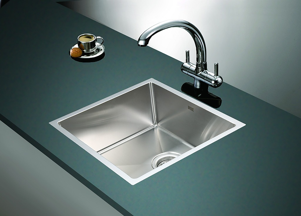 490x440mm Stainless Steel Single Bowl Sink With Round